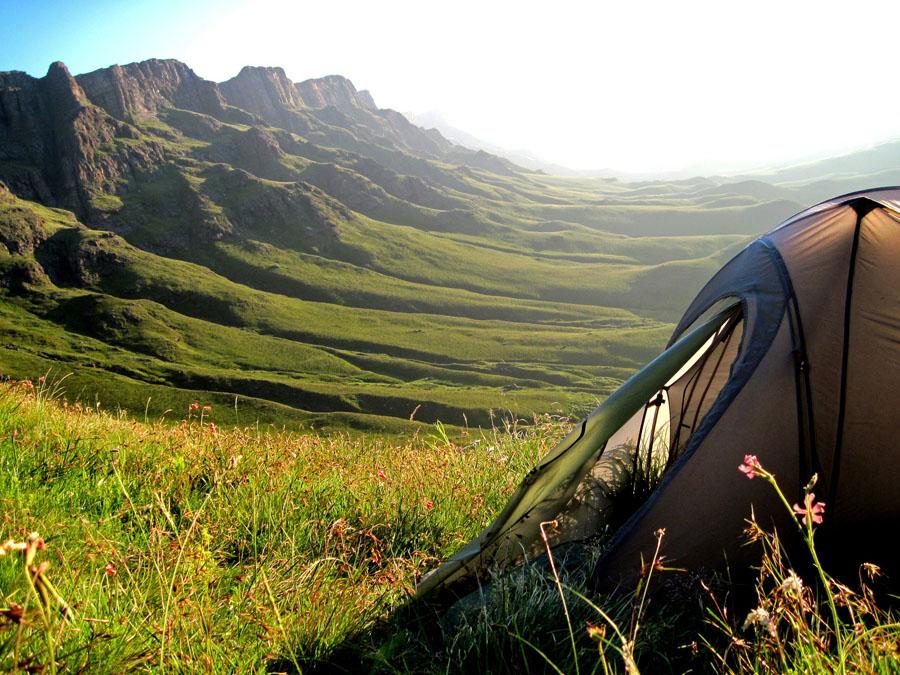 tente camping sauvage