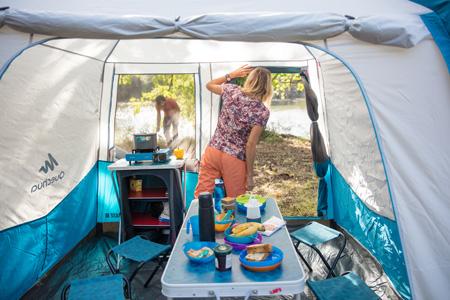 test matériel de camping