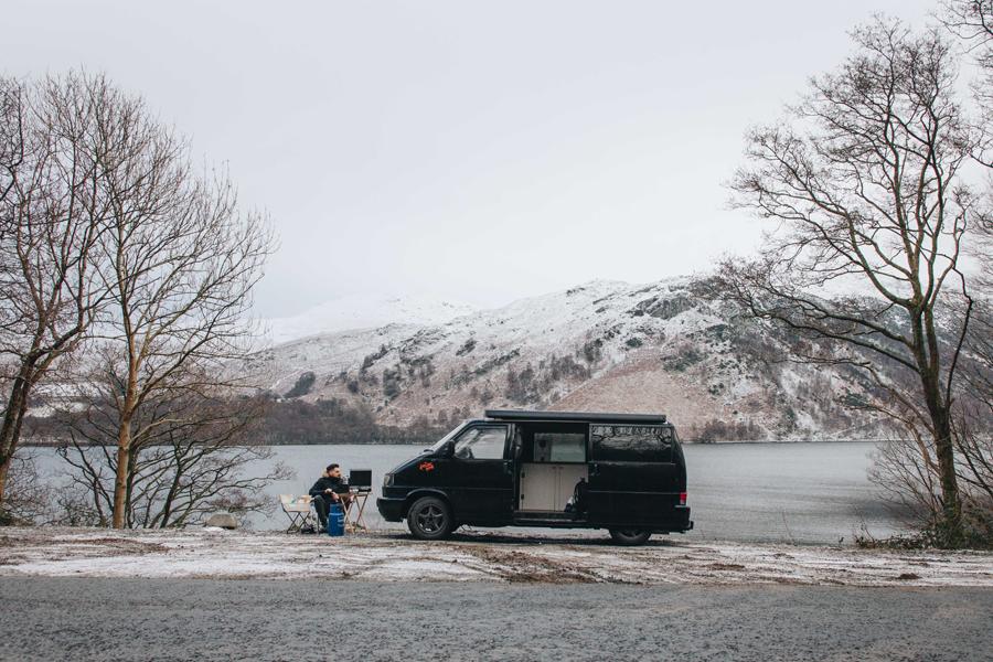 vivre en camion en hiver
