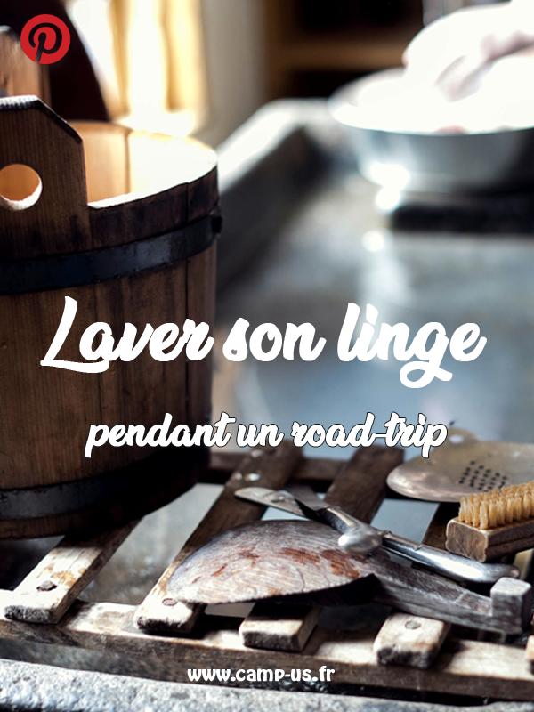laver son linge pendant un road-trip