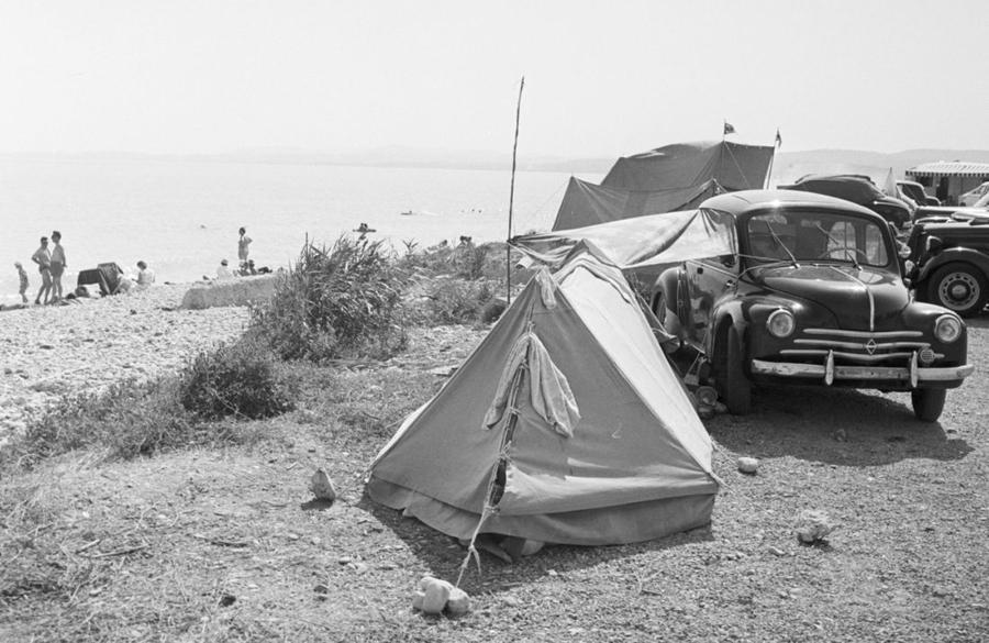 camping à travers le temps